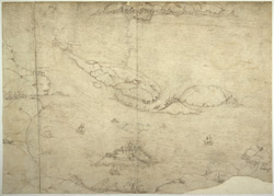 A Chart, or Bird's Eye View of Chateau-Cornet, and other Islets between Sark and Guernsey